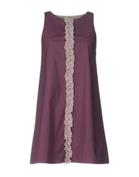 Jucca Short Dresses Deep Purple