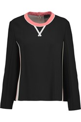 Fendi Crepe Top Black