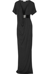 Vionnet Belted Jersey Gown Gray