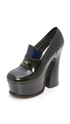 Maison Martin Margiela Loafer Wedges Green Navy