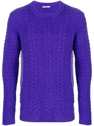 Nuur Knit Sweater Pink And Purple