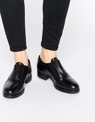 Ravel Chunky Leather Flat Shoes Black