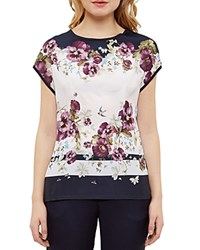Ted Baker Entangled Enchantment Stripe Tee Baby Pink
