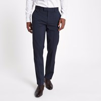 River Island Navy Tailored Suit Trousers