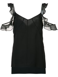 Elizabeth And James 'Cheryl' Cold Shoulder Top Black