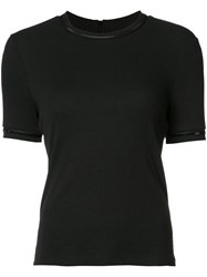 Carven Sequin Trim T Shirt Black