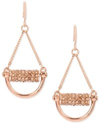 Kenneth Cole New York Rose Gold Tone Pave Chandelier Earrings