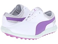 Puma Ignite Golf White Purple Cactus Flower Glacier Gray Women's Golf Shoes