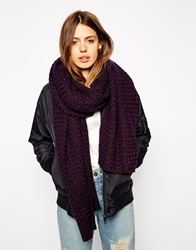 Asos Oversized Scarf In Basket Stitch 2 Tone Mixedknit