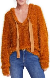 Free People Light As A Feather Hoodie Copper
