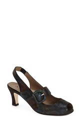 Women's Anyi Lu 'Tulip' Slingback Rainbow Leather