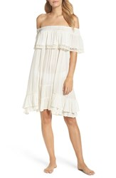 Muche Et Muchette Women's Iris Ruffle Cover Up Dress White