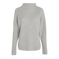 Polo Ralph Lauren Mock Neck Wool Cashmere Jumper Light Vintage Heather