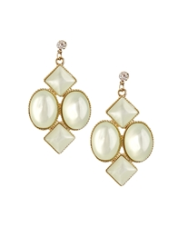 Asos Limited Edition Pearlised Chandelier Earrings Green