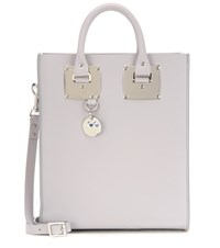 Sophie Hulme Mini Albion Leather Tote Grey