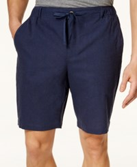 Tasso Elba Men's Linen Drawstring Shorts Only At Macy's Indigo
