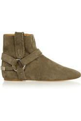 Isabel Marant Etoile Ralf Suede Ankle Boots Green