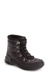 The North Face Women's Thermoball Primaloft Insulated Boot Shiny Black Iron Gate Grey