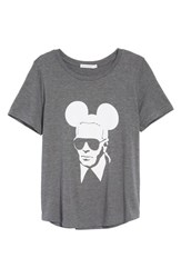 South Parade Women's Karl Mouse Tee Dark Grey