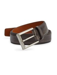 Saks Fifth Avenue By Magnanni Barnished Leather Belt Grey