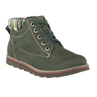 Lotus Sequoia Lace Up Ankle Boots Green