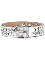 Alaia Perforated Waist Belt Metallic