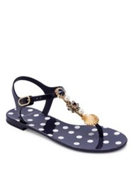 Dolce And Gabbana Seashell Jelly Thong Sandals