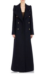 Chloe Double Breasted Military Coat Blue