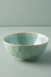 Anthropologie Old Havana Serving Bowl Mint