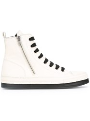 Ann Demeulemeester Hi Top Sneakers White