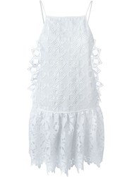 No21 Flared Lace Dress White