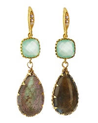 Indulgems Crystal And Labradorite Drop Earrings