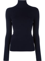 Joseph Turtle Neck Jumper Blue