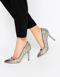 Little Mistress Astaire Ombre Glitter Heeled Court Shoe Gold Black