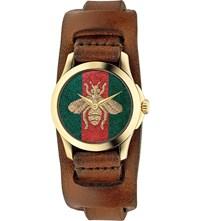 Gucci Ya126547 G Timeless Gold Plated Stainless Steel Watch Mixed