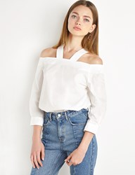 Pixie Market V Strap Off The Shoulder Top