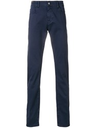 Notify Jeans Tailored Fitted Trousers Blue
