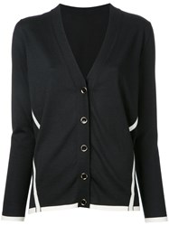 Lanvin V Neck Cardigan Black