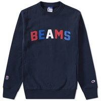 Champion X Beams Crew Sweat Blue
