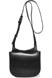 The Row Hunting 7 Leather Shoulder Bag Black