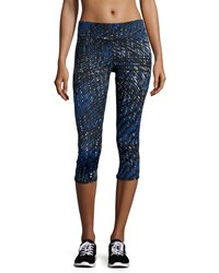 Marc New York Marc Ny Performance Printed Cropped Leggings Skydiver Kaleidoscope