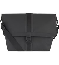 Mulberry Fleet Coated Canvas Messenger Bag Charcoal
