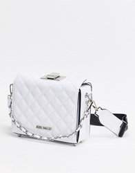 Steve Madden Bchrissy Quilted Cross Body Bag In White