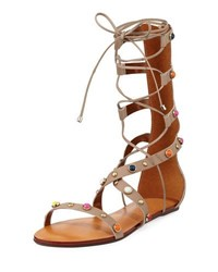Carrano Liane Embellished Leather Gladiator Sandal