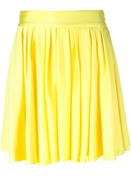 Fausto Puglisi Pleated Mini Skirt Yellow And Orange