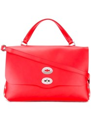 Zanellato Flap Closure Tote Red