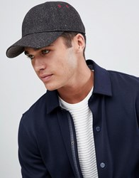 Ted Baker Straina Baseball Cap In Herringbone Grey 955a8e9d88b