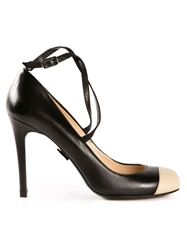 Ritch Erani Nyfc Contrasting Captoe Pumps Black