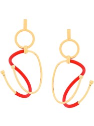 Paula Mendoza Gu Earrings Red