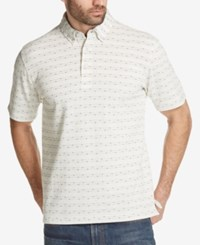 Weatherproof Vintage Men's Jacquard Polo Dark Beige